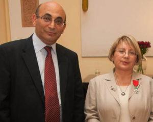 Награждение Лейлы орденом  Почетного легиона в посольстве Франции в Баку, 22 мая 2013 г.